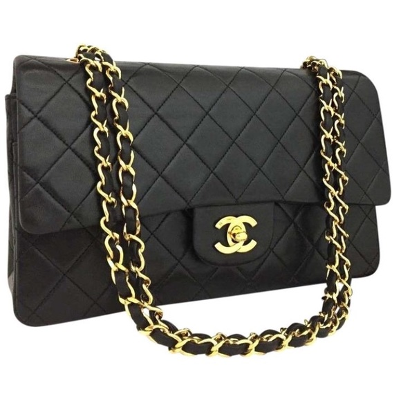 2d7ce68305bd36 CHANEL Bags | Vtg Classic Double Flap 25 Black Lambskin | Poshmark